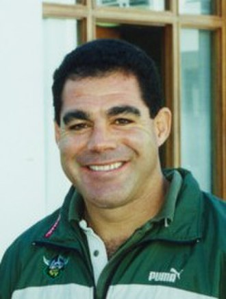 Australian Rugby League's Team of the Century - Image: Mal Meninga (10 July 2008, Canberra)