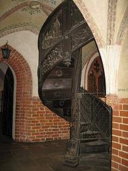 Malbork Castle - Malbork, Poland - Spiral staircase