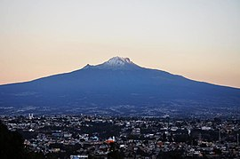 Tlaxcala at the foot of the Malinche