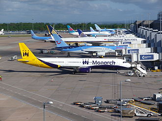 OAG (company) - Image: Manchester Terminal 2 Apron June 2013