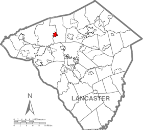 Manheim, Lancaster County Highlighted.png