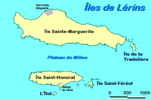 Lérins Islands - Map of the Lérins Islands