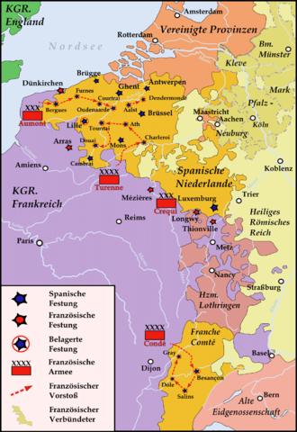 War of Devolution - Course of the war