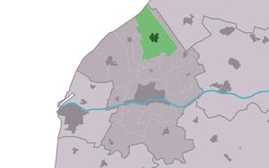 Tzummarum - Image: Map NL Frjentsjerteradiel Tsjummearum
