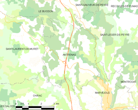 Map commune FR insee code 48005.png