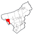 Map of Allen Township, Northampton County, Pennsylvania Highlighted.png