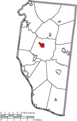 Location of Batavia in Clermont County