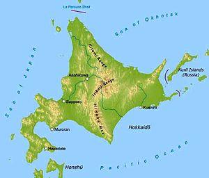 Pokémon Diamond and Pearl - Image: Map of Hokkaido