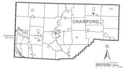 Location of Lincolnville in Crawford County
