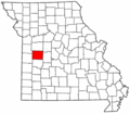 Map of Missouri highlighting Henry County.png