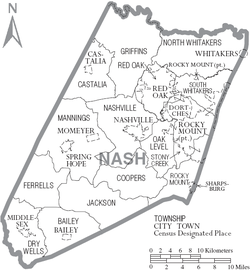 Nash County, North Carolina - Wikipedia on griffin texas map, griffin indiana map, griffin va map, griffin ga map,