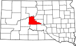 State map highlighting Stanley County