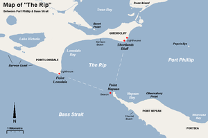The Rip - A map of The Rip and surrounding features