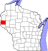 State map highlighting St. Croix County