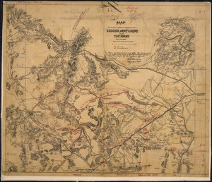 Map to Show Lines of March of Second Army Corps and The Enemy, Oct. 14, 1863. (between Warrenton and Bristoe... - NARA - 305831.tif