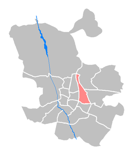 Location of Ciudad Lineal