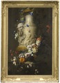 Marble Vase with Garland of Flowers (Jean-Baptiste Monnoyer) - Nationalmuseum - 18715.tif