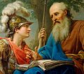 Marcello Bacciarelli - Alcibiades Being Taught by Socrates, 1776-77 crop.jpg