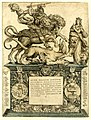 Marcus Gheeraerts I - Statue of William I as St George on horseback and slaying the dragon.jpg