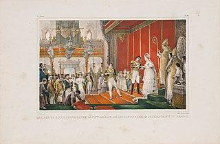 Mariage de S.M.I.D. Pedro 1er avec la Presse. Amélie de Leuchtenberg