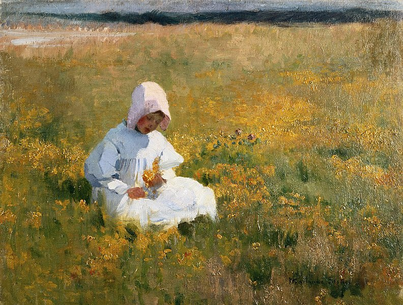 File:Marianne Stokes - In the Meadow.jpg