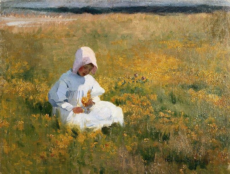 File:Marianne Stokes - In the Meadow.jpg