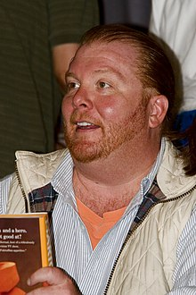 Mario Batali - the cool, fun,  tv-personality, chef,   with French, Canadian, English, Italian,  roots in 2020