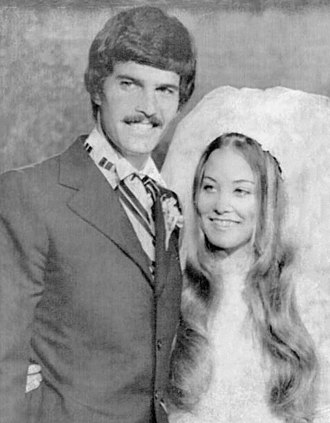 Mark Spitz - Mark Spitz and Suzy Weiner on their wedding day in May 1973