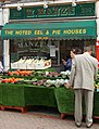 Market stall and Manze's, SUTTON, Surrey, Greater London - Flickr - tonymonblat.jpg