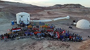 University Rover Challenge - Group photo from 2017 Mars Society University Rover Challenge at the Mars Desert Research Station near Hanksville, Utah.