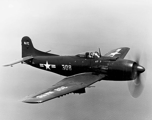 Martin AM-1 NATC in flight - Martin AM Mauler