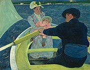 The Boating Party by Mary Cassatt, 1893–94, oil on canvas, 35 1/2 x 46 in., National Gallery of Art, Washington