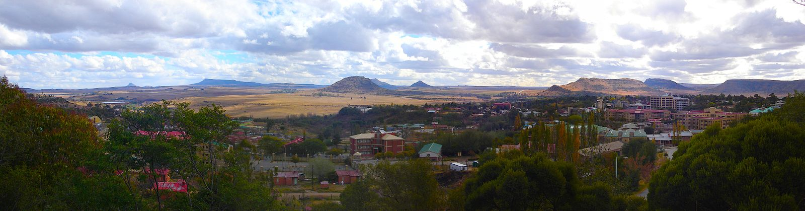 Vista panorâmica de Maseru, capital do país. - Lesoto