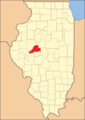 Mason County at the time of its creation in 1841