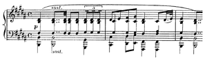 Piano Concerto (Massenet) - The opening bars of the second movement, played by the soloist alone