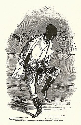 Master Juba - Woodcut of Juba from The Illustrated London News, August 5, 1848