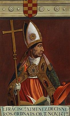 Matías Moreno (c. 1878) El cardenal Francisco Jiménez de Cisneros (Museo del Prado).jpg