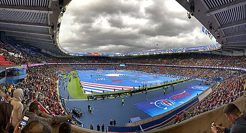 Opening ceremony of the 2019 FIFA Women's World Cup, Parc de Princes, Paris, June 7, 2019