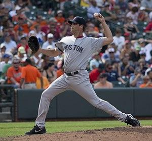 Matt Thornton (baseball) - Thornton pitching for the Boston Red Sox in 2013