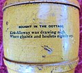 Mauchline ware money box barrel. Robert Burns theme.jpg