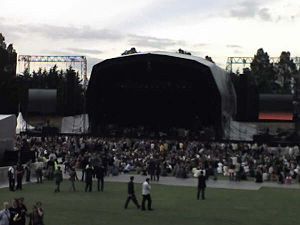 Meadowbank Stadium - Meadowbank Stadium prior to performance by Radiohead at the 2006 T on the Fringe, taken from the main seating area