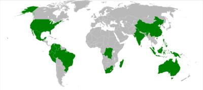 Negara Megadiversiti Wikipedia Bahasa Melayu Ensiklopedia Bebas