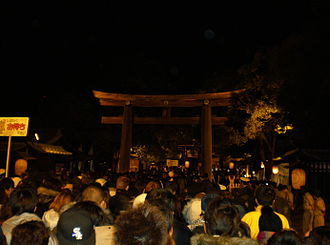 Hatsumōde - Crowded Meiji Shrine for hatsumōde