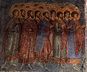Brontochion Monastery - The frescoes of Aphentiko church