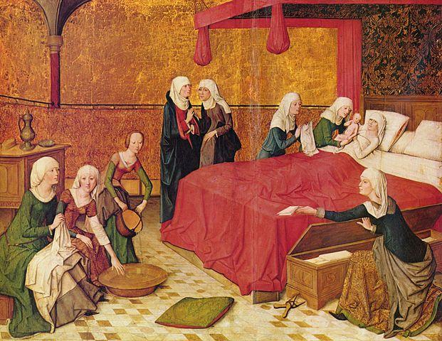 «Рождение Девы Марии». Мастер жития Марии, Старая пинакотека, ок.1460