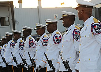 Haitian National Police - The Haitian National Police Palace Security Unit at Port-au-Prince airport, 2010.
