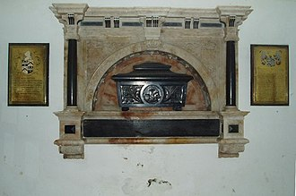 Augustus Pitt Rivers - Memorial to Augustus Pitt Rivers in St Peter's Church at Tollard Royal.