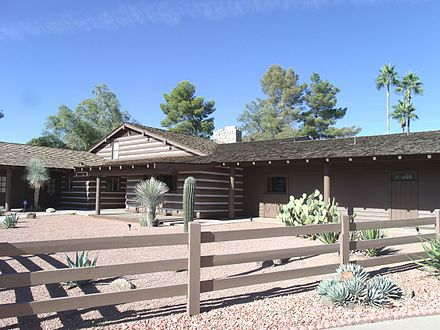 Greene's Ponderosa II House in Mesa, Arizona Mesa-Ponderosa House II-1963-1.JPG