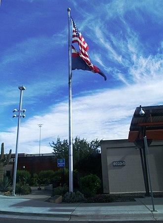 Phoenix–Mesa Gateway Airport - Image: Mesa WAFB Flagpole 1