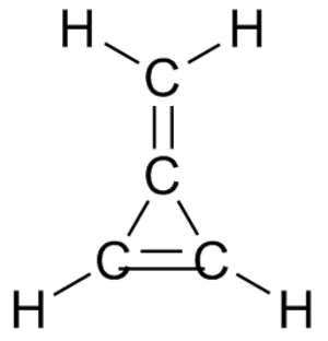 Methylene group - 3-Methylidenecycloprop-1-ene is named as a cyclopropene with a methylidene substituent.